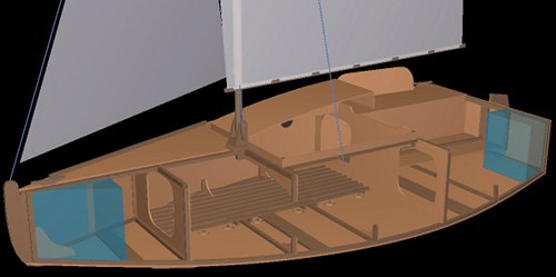 Plywood sailboats plans, pocket cruisers sailboat plan