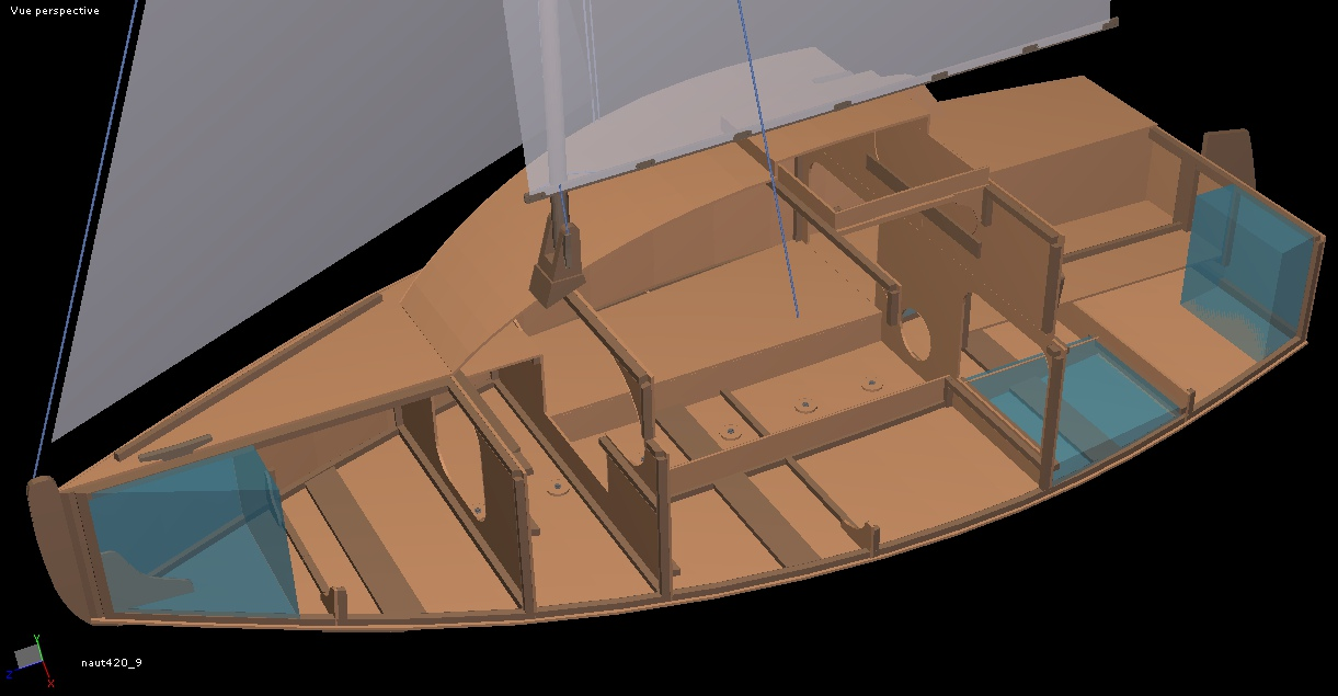 Plywood trailerable sailboat